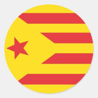 """Autoadhesivo Bandera Catalana """"Serenya """" Pegatina Redonda"""