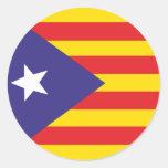 Autoadhesivo Bandera de la Independencia Catalana Pegatina Redonda