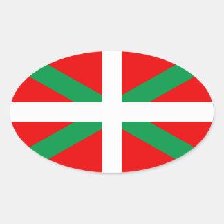 "Autoadhesivo Bandera Vasca ""Ikkurina "" Pegatina Ovalada"