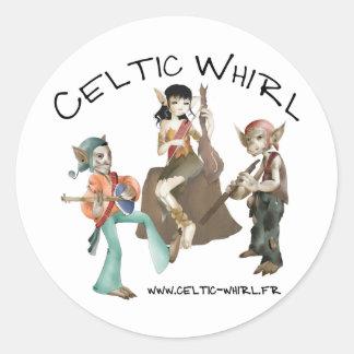 Autoadhesivo Celtic Whirl por 20 Pegatina Redonda