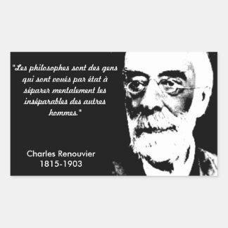 Autoadhesivo Charles Renouvier Pegatina Rectangular