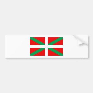 "Autoadhesivo con bandera Vasca ""Ikkurina "" Pegatina Para Auto"