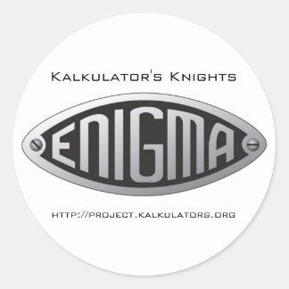 Autoadhesivo Enigma Pegatinas Redondas