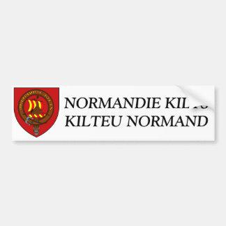 Autoadhesivo Normandía Faldas escocesas Pegatina Para Auto