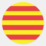 """Autoadhesivo Redondo Bandera Catalana """"Serenya """""""