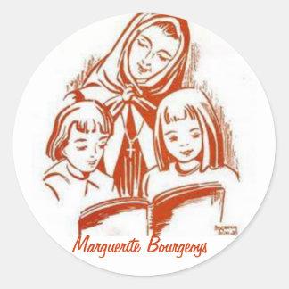 Autoadhesivos Margarita Bourgeoys Pegatinas Redondas