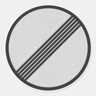 "Autobahn alemán pegatina de ""ningunas"