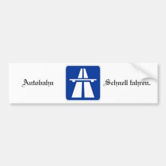 Autobahn Bumpersticker Pegatina Para Auto