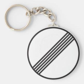 Autobahn No Speed Limits Basic Round Button Keychain