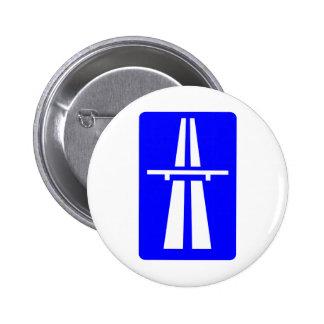 Autobahn Sign 2 Inch Round Button