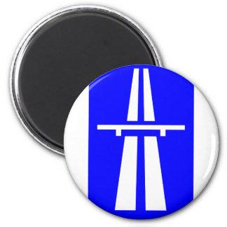 Autobahn Sign 2 Inch Round Magnet
