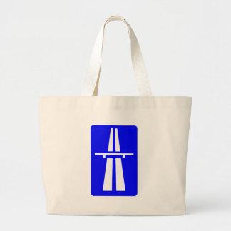 Autobahn Sign Jumbo Tote Bag