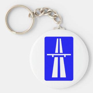 Autobahn Sign Basic Round Button Keychain