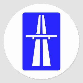 Autobahn Sign Classic Round Sticker