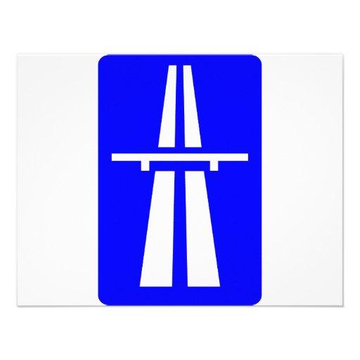 Autobahn Sign InvitationAutobahn Sign