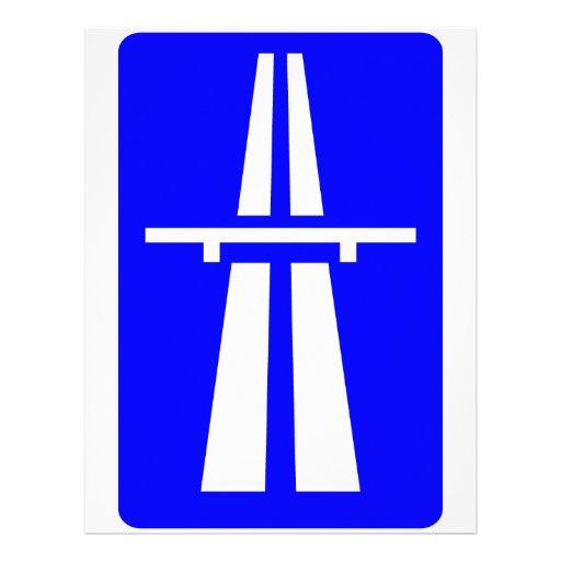 Autobahn Sign Letterhead