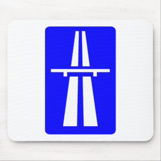Autobahn Sign Mouse Pad