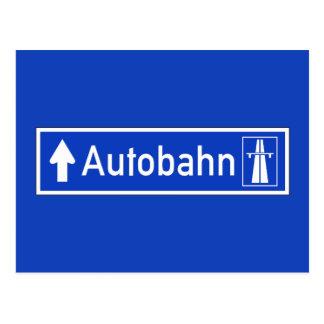 Autobahn, Traffic Sign, Germany Postcard