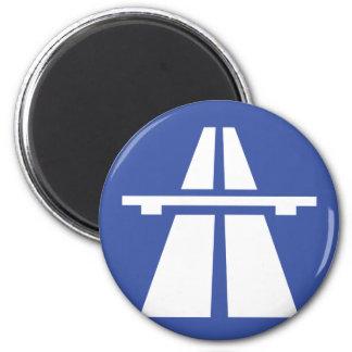 Autobahnschild 2 Inch Round Magnet