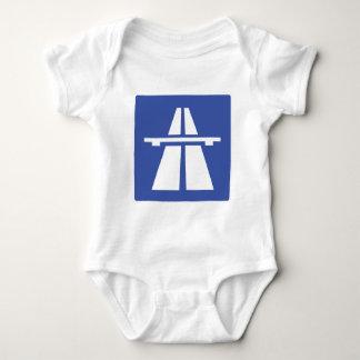 Autobahnschild Baby Bodysuit