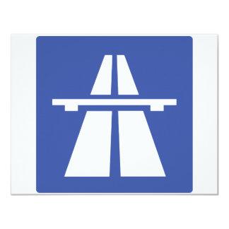 Autobahnschild Card