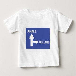 Autobahnschild Finale Holland Baby T-Shirt