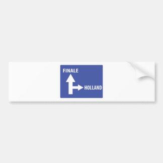 Autobahnschild Finale Holland Bumper Sticker