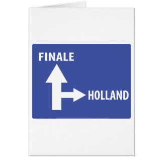 Autobahnschild Finale Holland Card