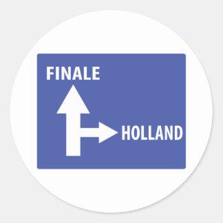 Autobahnschild Finale Holland Classic Round Sticker