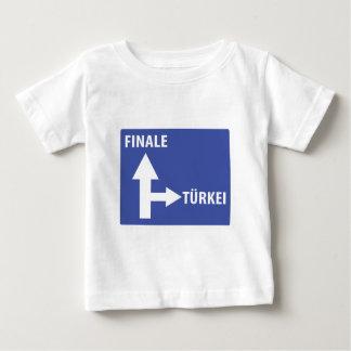 Autobahnschild Finale Türkei Baby T-Shirt