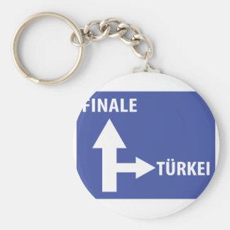 Autobahnschild Finale Türkei Keychain