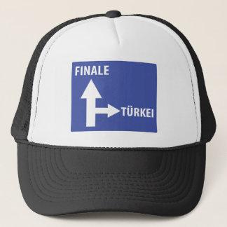 Autobahnschild Finale Türkei Trucker Hat