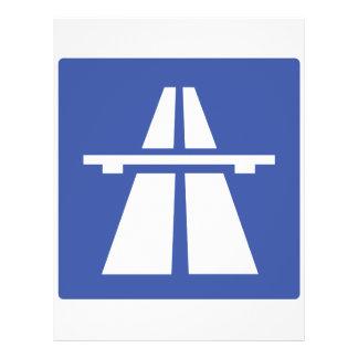 Autobahnschild Flyer