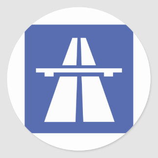 Autobahnschild Pegatina Redonda