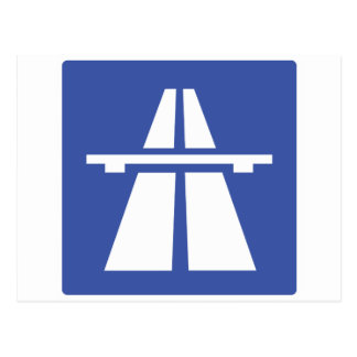Autobahnschild Postcard