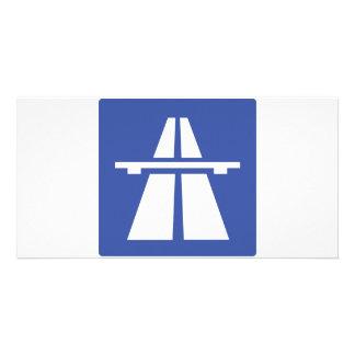 Autobahnschild Tarjeta Personal Con Foto