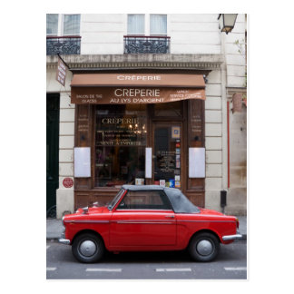Autobianchi in Paris Postcard