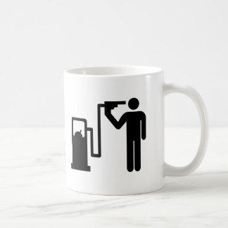 Autobomba del suicidio tazas de café
