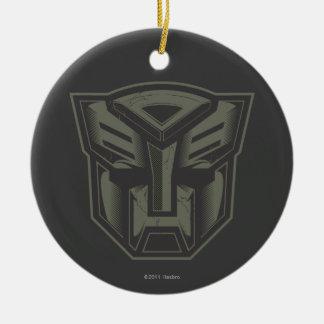 Autobot agrietó símbolo adorno redondo de cerámica