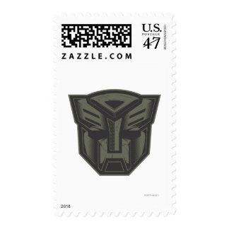 Autobot agrietó símbolo timbre postal