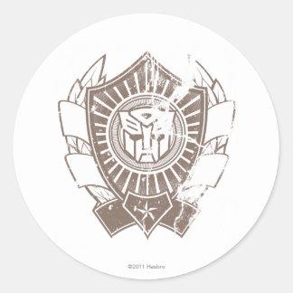 Autobot apenó la insignia 2 etiqueta redonda