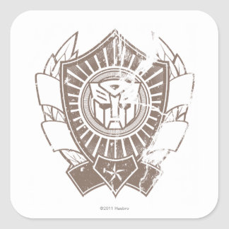 Autobot apenó la insignia 2 calcomanías cuadradass personalizadas