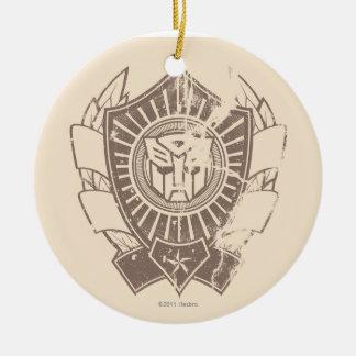 Autobot apenó la insignia adorno redondo de cerámica