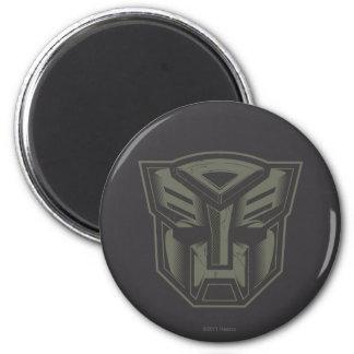 Autobot Cracked Symbol 2 Inch Round Magnet