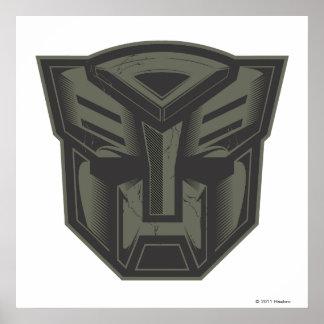 Autobot Cracked Symbol Poster