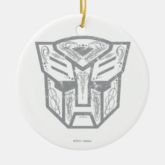 Autobot Decorative Symbol Double-Sided Ceramic Round Christmas Ornament