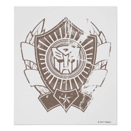 Autobot Distressed Badge 2 Poster