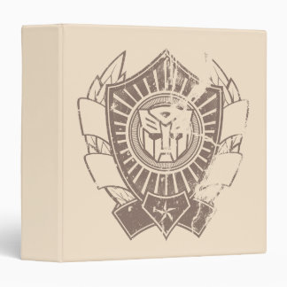 Autobot Distressed Badge 3 Ring Binder