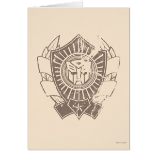 Autobot Distressed Badge Card