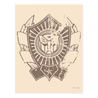 Autobot Distressed Badge Postcard